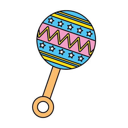 rattle baby toy isolated icon vector illustration design