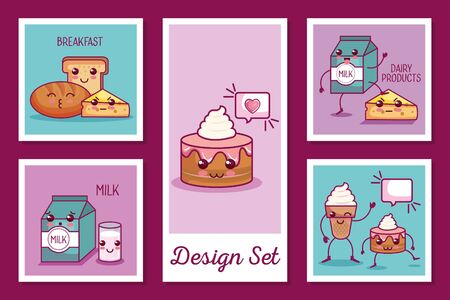 designs set of breakfast icons style vector illustration design