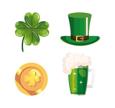 set of saint patricks day icons vector illustration design Ilustração