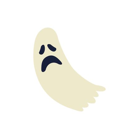 halloween ghost mystery isolated icon vector illustration design  イラスト・ベクター素材