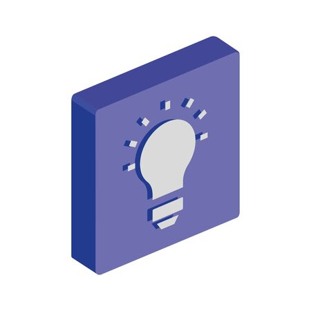button with light bulb idea isolated icon vector illustration design 向量圖像