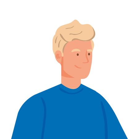 young man with blonde hair vector illustration design