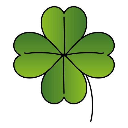 clover of four leafs isolated icon vector illustration designicon