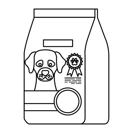 food for dog in bag isolated icon vector illustration design Ilustracja
