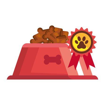 dish food dog animal isolated icon vector illustration design