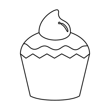 delicious cupcake pastry isolated icon vector illustration design