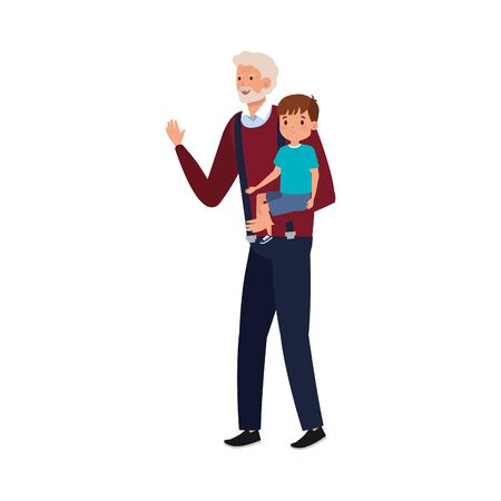 grandfather with grandson avatar character vector illustration design Foto de archivo - 142868652
