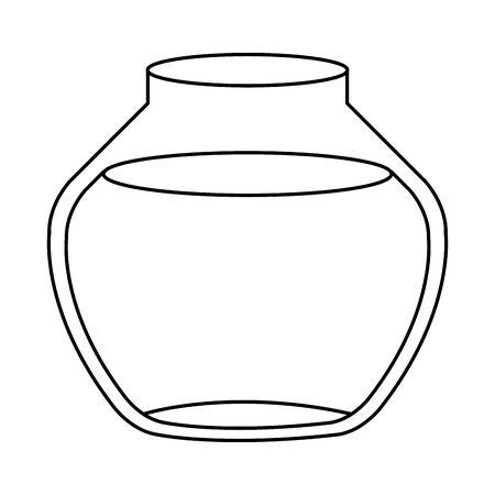 round glass fish bowl isolated icon vector illustration design Archivio Fotografico - 142868669