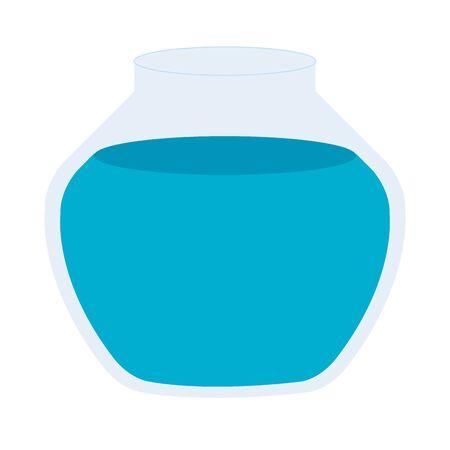 round glass fish bowl isolated icon vector illustration design Archivio Fotografico - 142856684