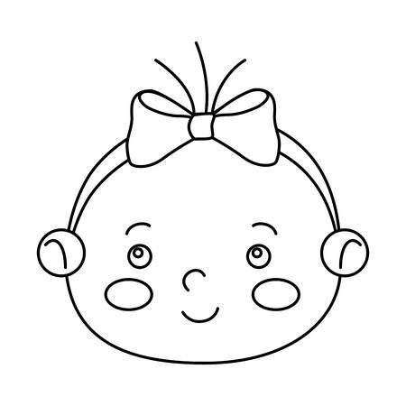face of cute little baby girl isolated icon vector illustration design Foto de archivo - 142865843