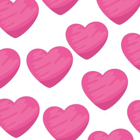 background of cute hearts icons vector illustration design