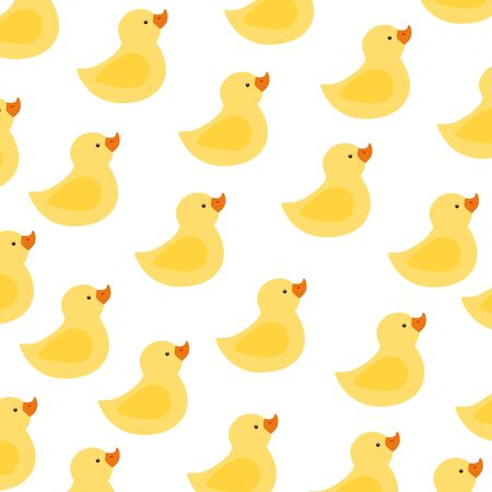 background of cute ducks rubber vector illustration design