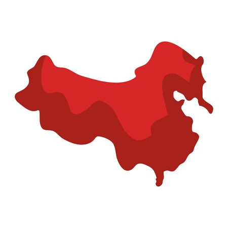 map of china isolated icon vector illustration design