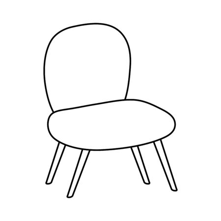 comfortable chair line style icon vector illustration design