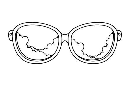 classic eyeglasses vision optical icon vector illustration design Ilustracja