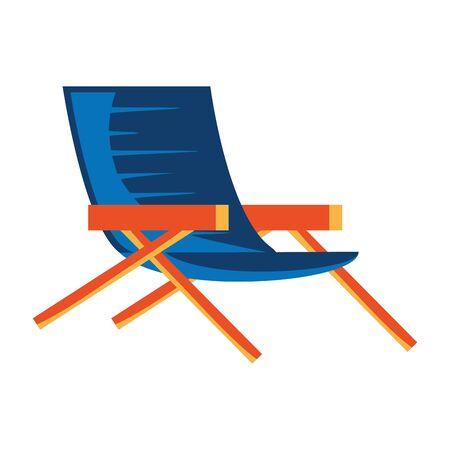 summer chair beach isolated icon vector illustration design
