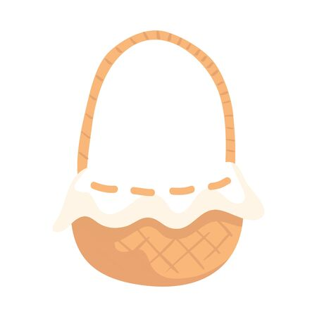 basket wicker traditional isolated icon vector illustration design