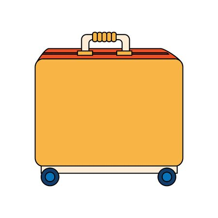 wheeled luggage suitcase isolated icon vector illustration design Ilustração
