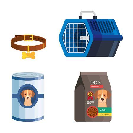 bundle of pet shop icons vector illustration design 向量圖像