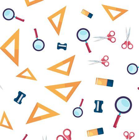 education supplies pattern background icons vector illustration design 向量圖像