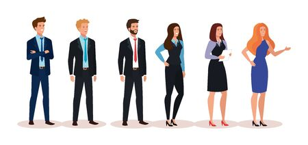 group of business people avatar character vector illustration design 写真素材 - 143295563