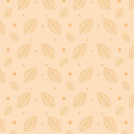 ecology leafs plants pattern background vector illustration design Illustration