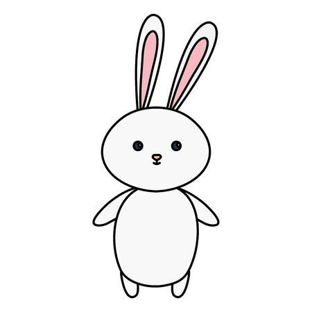 cute rabbit animal isolated icon vector illustration design
