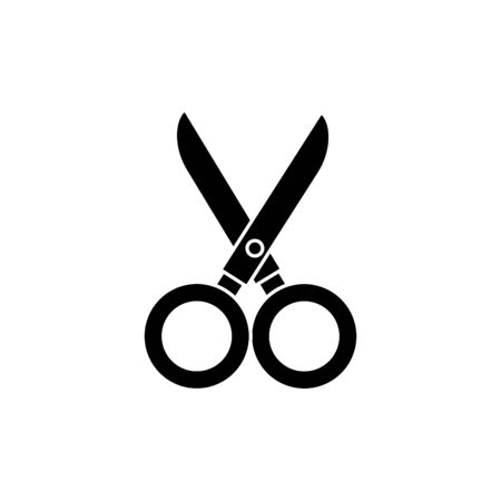 silhouette of scissor utensil isolated icon vector illustration design