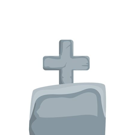 halloween tomb of cemetery isolated icon vector illustration design 写真素材 - 143426919