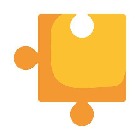 puzzle game piece solution icon vector illustration design