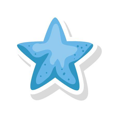 cute star decoration isolated icon vector illustration design