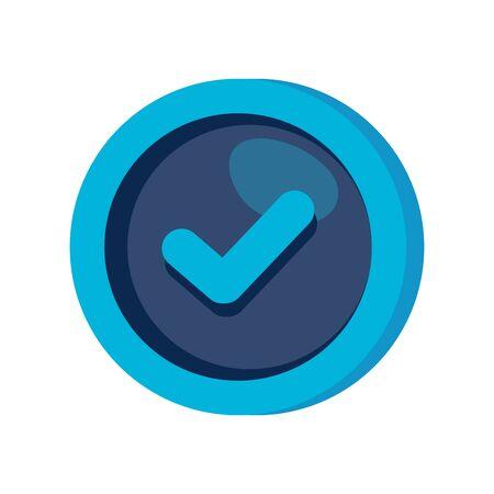check symbol in frame circular vector illustration design
