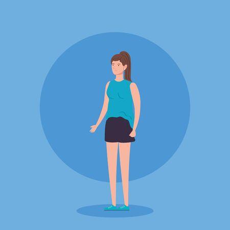 beautiful woman avatar character icon vector illustration design