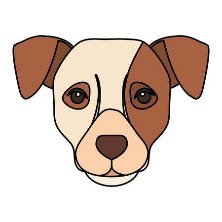 face of white dog with brown spot vector illustration design 矢量图像