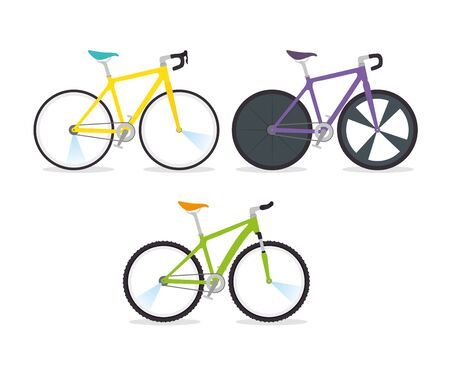 set bikes professional for championship racing vector illustration design