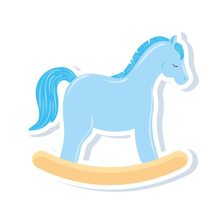 wooden horse toy isolated icon vector illustration design 版權商用圖片 - 143839747