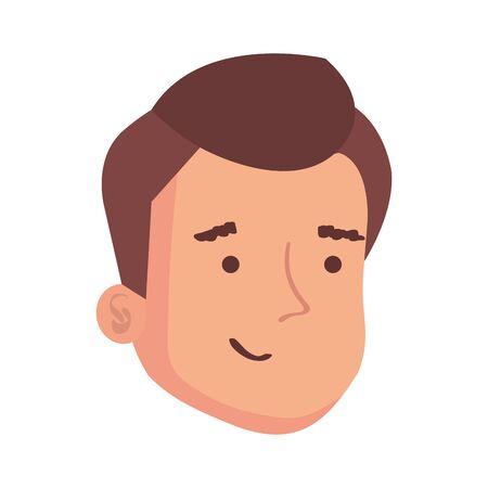 face of man avatar character vector illustration design 向量圖像