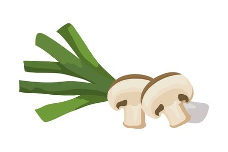 fresh leek vegetable isolated icon vector illustration design Illusztráció