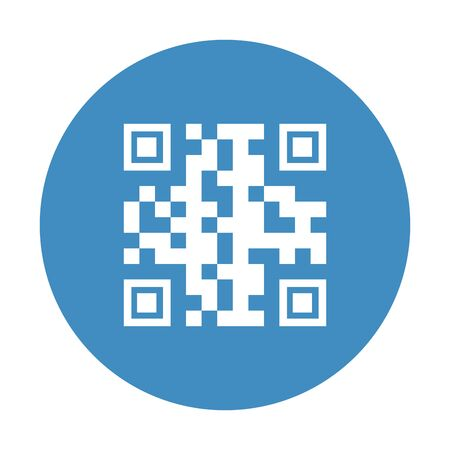 qr code inside circle design of technology scan information business price communication barcode digital and data theme Vector illustration 向量圖像