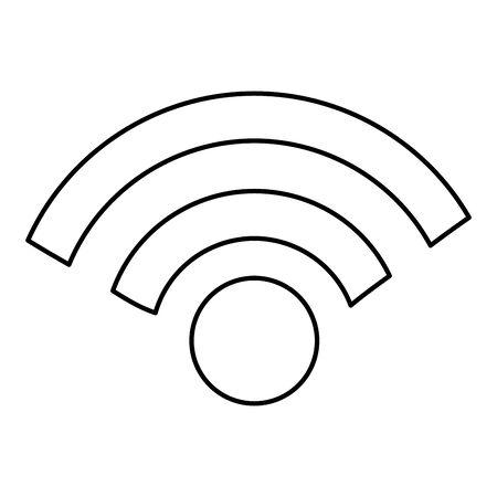 Wifi zone design, Internet technology communication connection network wireless signal web and access theme Vector illustration Vektorové ilustrace