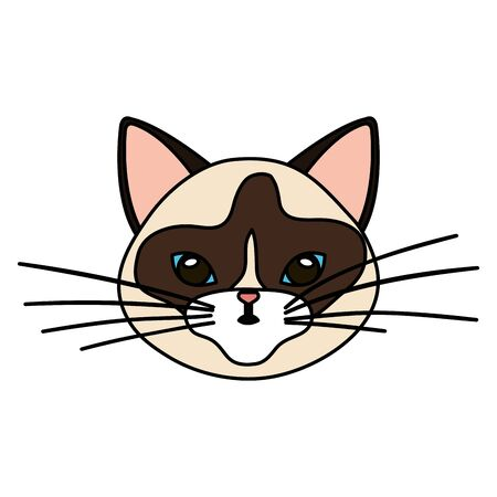 face of cat animal isolated icon vector illustration design