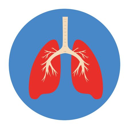 lungs organ in frame circular isolated icon vector illustration design