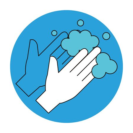 cleaning hands washing isolated icon vector illustration design