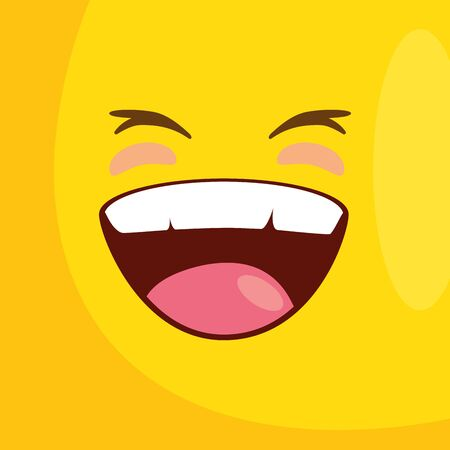 background with emoticon smiling icon vector illustration design