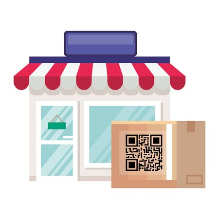 qr code design of technology scan information business price communication barcode digital and data theme Vector illustration
