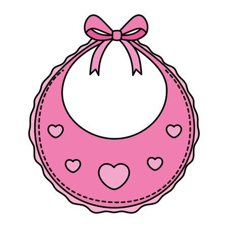 cute baby bib isolated icon vector illustration design