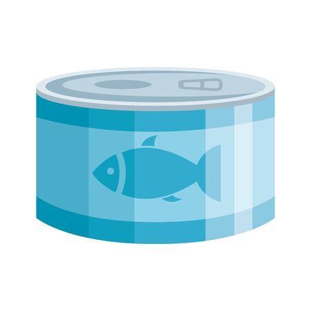 can tuna food isolated icon vector illustration design Ilustração