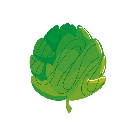 fresh and healthy artichoke isolated icon vector illustration design