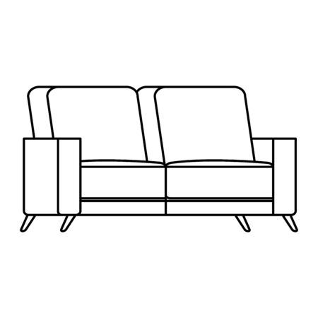 comfortable couch line style icon vector illustration design