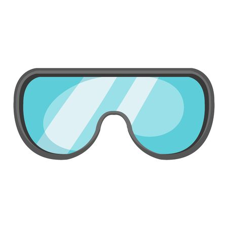 safety goggles equipment isolated icon vector illustration design